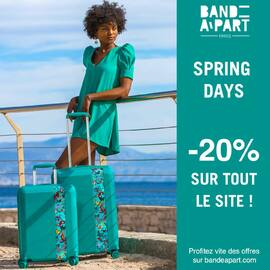 SPRING DAYS - 20% de remise sur tout le site ! Profitez en ! 💚🍀 - SPRING DAYS - 20% OFF on all ! Shop Now ! 💚🍀 • • • #bandeapart #bandeapartparis #valise #bagage #springdays #summeriscoming #luggage